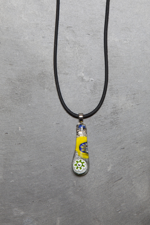 Glass Wear Mille Fiori teardrop necklace