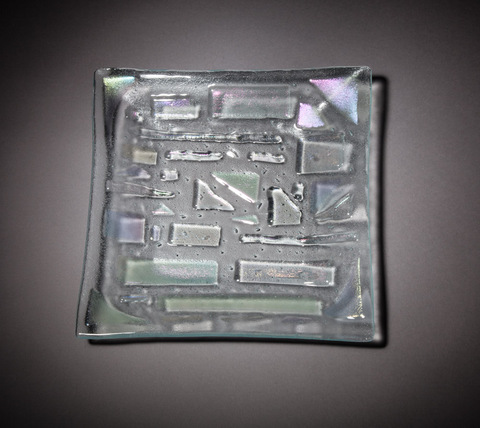 Glass Ware Square Opal Tray