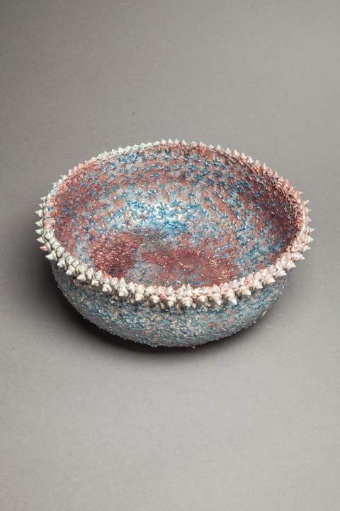 Raku, Pit Fire and Luster ware Reef bowl, view 2