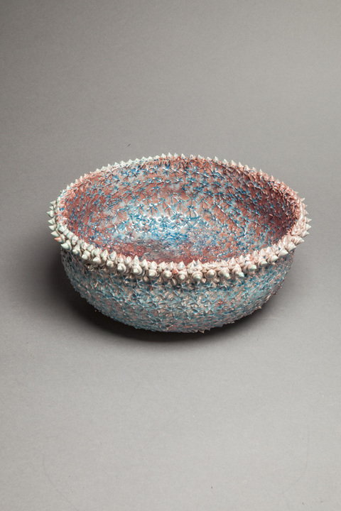 Raku and Luster ware Reef bowl