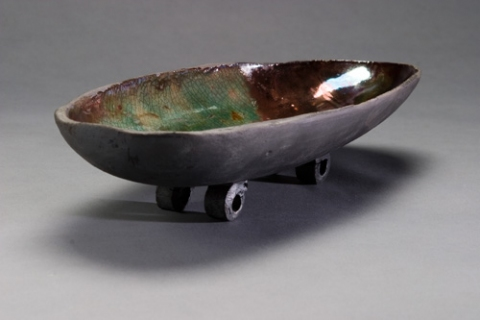 Raku, Pit Fire and Luster ware Lustre Skate Bowl