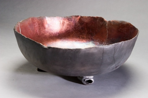 Raku and Luster ware Copper Bowl