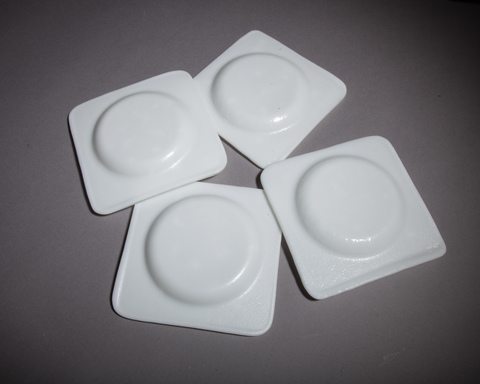Glass Ware White sparkle coaster set