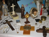 Items restored by the Restoration Workshop.  They were given to the candidates for ordination into the priesthood in the Archdiocese of Newark, New Jersey in May 2009.