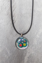 Mille Fiori Button pendant necklace
