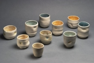 Lisa G Westheimer Ceramics & Glass    LisaGWCeramicsnGlass.Etsy.com Chawan, cups and bowls Ceramic, glass, lustre
