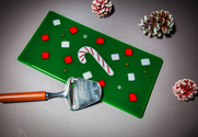 Candy cane holiday cheese/snack/dessert tray