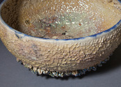 Gold and glass reef bowl, detail