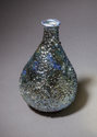 Blue and silver luster reef bottle
