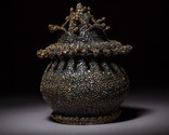 Frilly lidded jar
