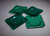 Green sparkle coaster set