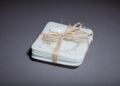 White sparkle coaster set