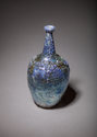 Blue and silver reef vase