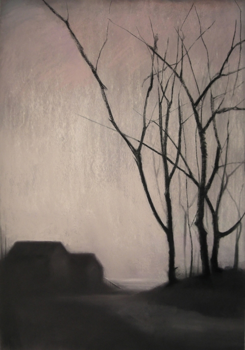 Close to Home pastel and charcoal
