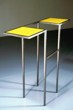 Livio Saganić Tables Steel and glass