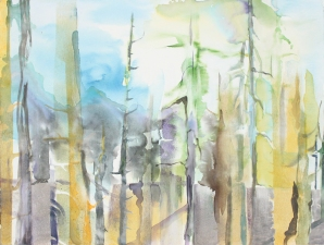 Liza Houston Works on Panel/Canvas watercolor on raised panel