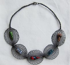 Liz Janson Recently Added black wire, dyed freshwater pearls