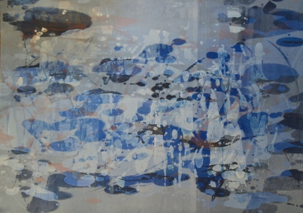 Liz Dexheimer Tidal Pools monotype