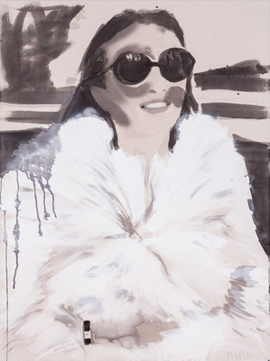Lee Radziwill in Fur