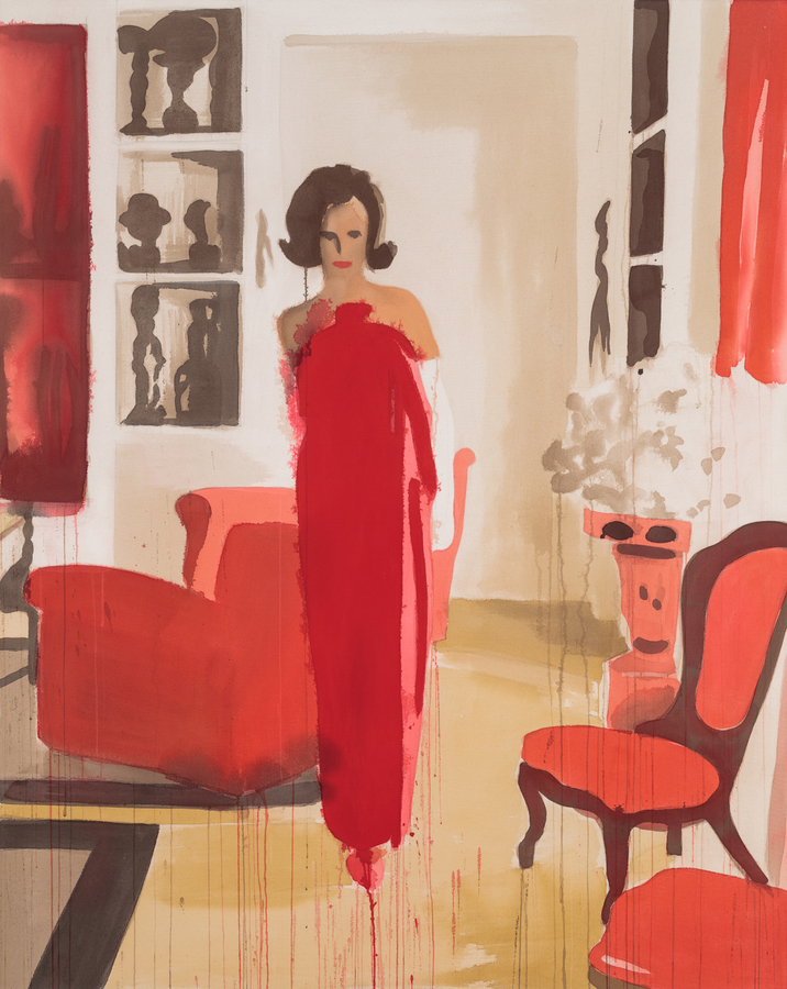 PORTRAITS, INTERIORS, AND LANDSCAPES Lee Radziwill in Lanvin
