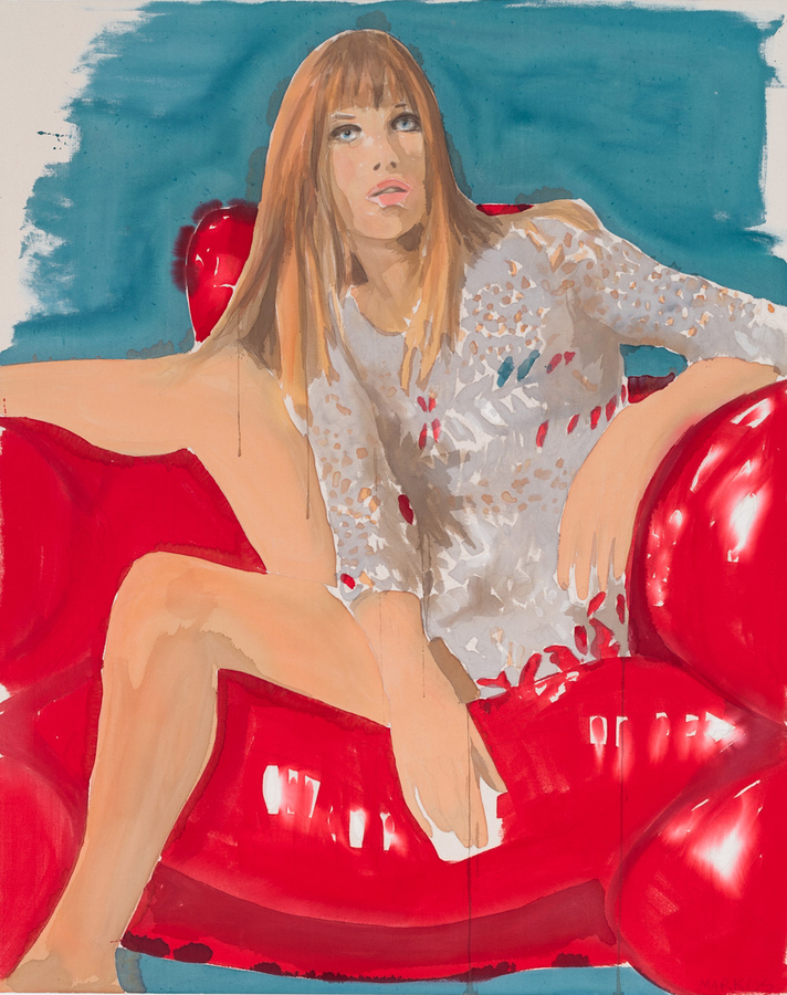 PORTRAITS, INTERIORS, AND LANDSCAPES Jane Birkin Red Chair
