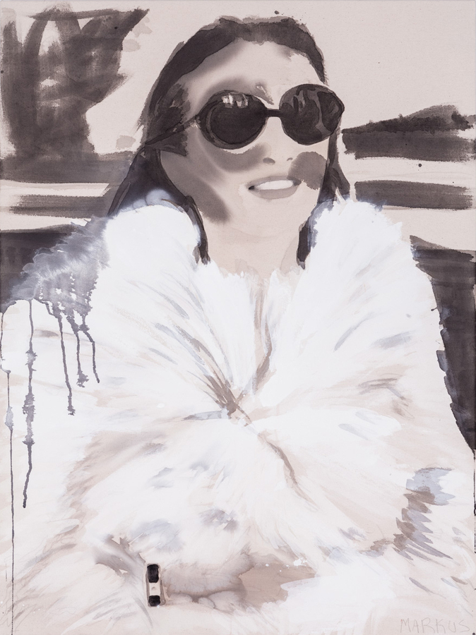 PORTRAITS, INTERIORS, AND LANDSCAPES Lee Radziwill in Fur