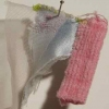 Piled|Sewn|Stacked 1998-2010 Fabric, thread, pin