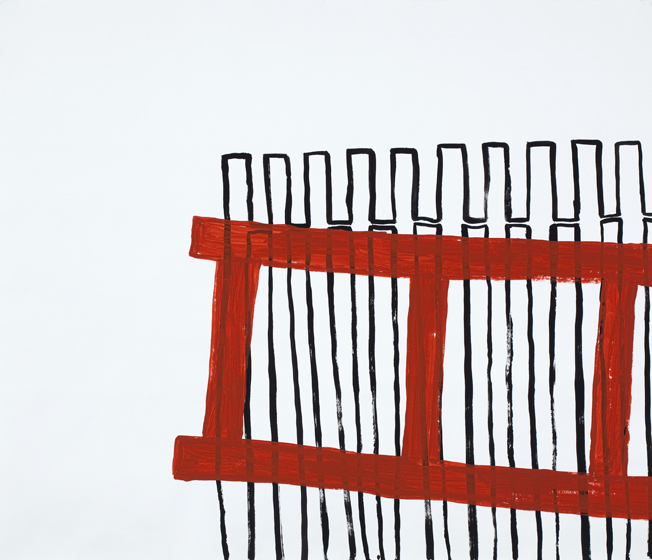Works on Paper Ice Ladder (Fence)