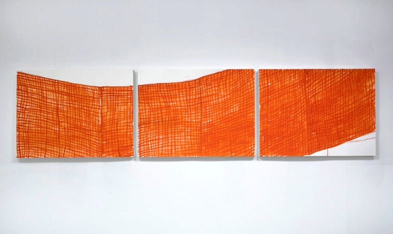 Works on Paper Orange Netting