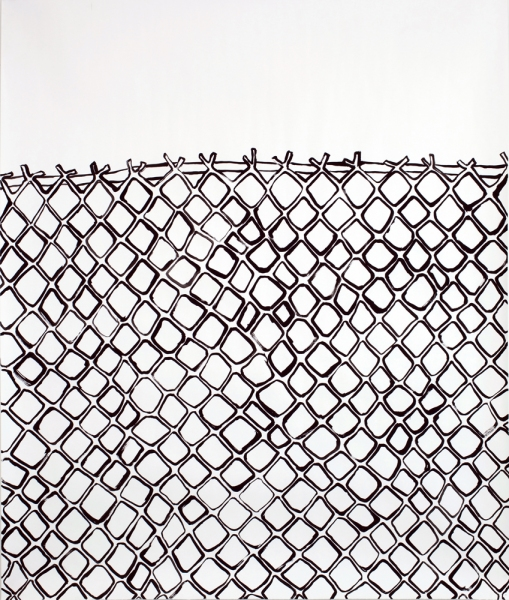 Works on Paper Chain Link Fence