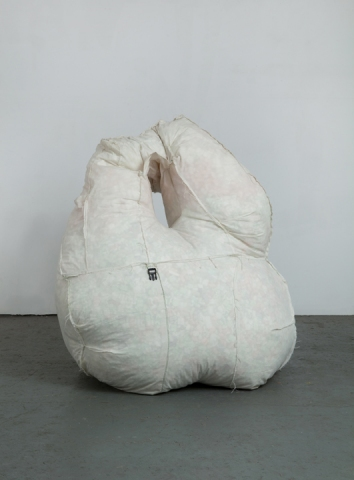 Lizzie Scott Textile Pieces Muslin, styrofoam, tether
