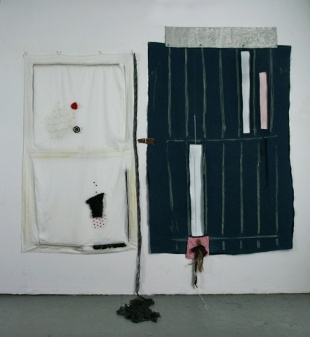 Lizzie Scott Textile Pieces Mixed media on fabric