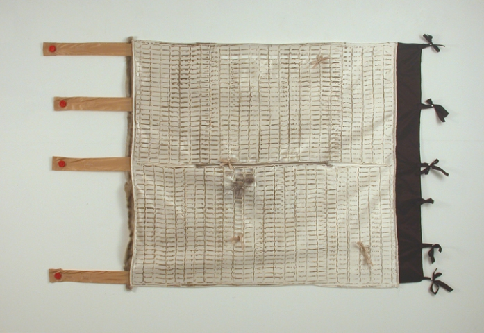 Lizzie Scott Textile Pieces Mixed media on satin