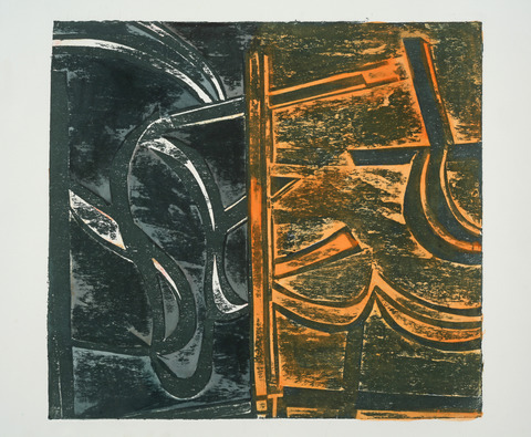 Lola Fraknoi After the Fires Collograph