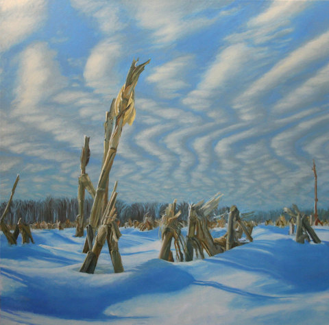 winter corn oil on canvas