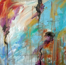 Lorie McCown Paint acrylic and mixed media on canvas