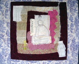 Lorie McCown Literary themes fiber/mixed media