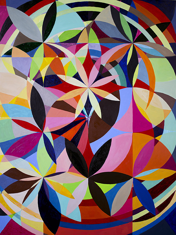 Lorien Suárez-Kanerva Wheel within a Wheel Artwork Acrylic on Ampersand Gesso Board Papel