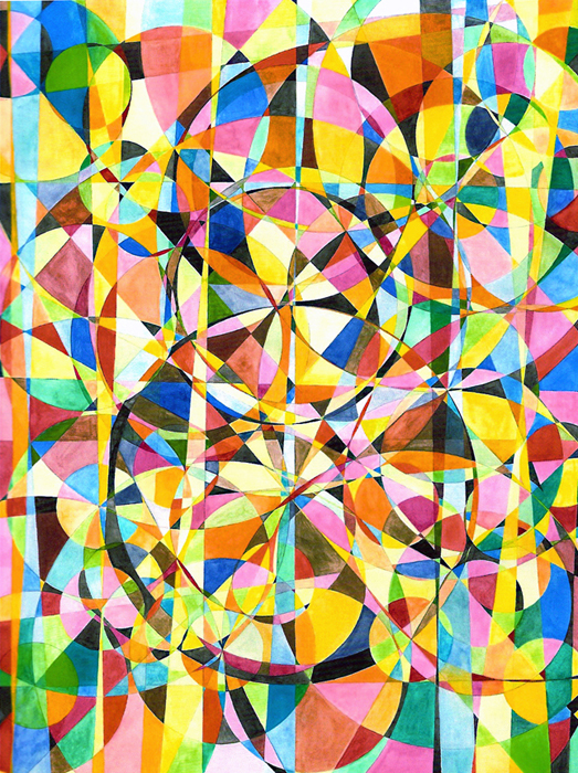 Lorien Suárez-Kanerva Wheel within a Wheel Artwork Watercolor/Gouache on Arches Hot Press Paper