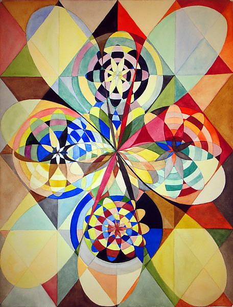 Lorien Suárez-Kanerva Wheel within a Wheel Artwork Acuarela/Gouache sobre Papel