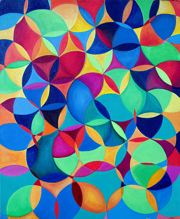 Lorien Suárez-Kanerva Wheel within a Wheel Artwork Acrylic on Canvas