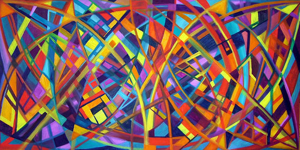 Lorien Suárez-Kanerva Wheel within a Wheel Artwork Oil on Canvas
