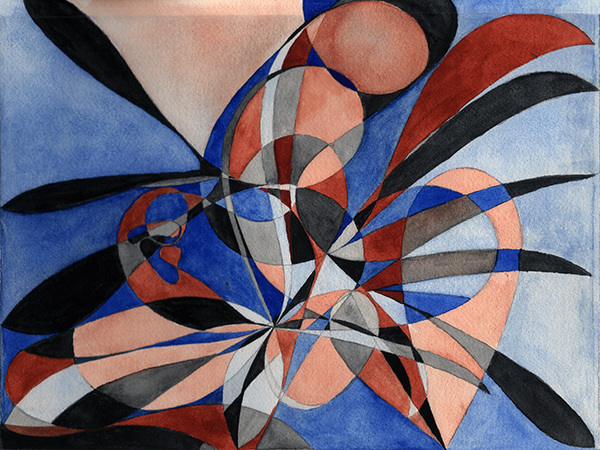 Lorien Suárez-Kanerva Wheel within a Wheel Artwork Watercolor