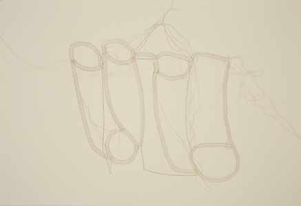Lori Glavin TEXTILES thread on paper