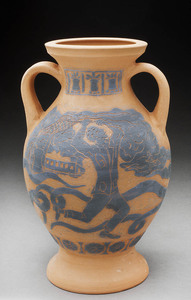 Lori Rollason Ceramics 2015 Earthenware (What Would Heracles Do?) Earthenware, Black Slip Sgraffito