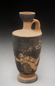 Lori Rollason Ceramics 2015 Earthenware (What Would Heracles Do?) Earthenware, Black Slip Sgraffito, Terra Sigillata, Burnished