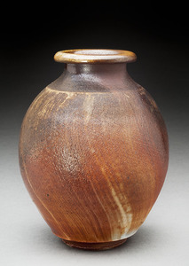 Lori Rollason Ceramics Wood Fired Work  Brown stoneware with white slp