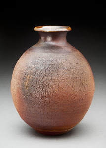 Lori Rollason Ceramics Wood Fired Work  Brown Stoneware with White Slip