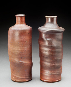 Lori Rollason Ceramics Wood Fired Work  white and brown stoneware blend, wheel thrown, wood fired