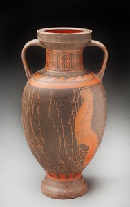 Lori Rollason Ceramics 2015 Earthenware (What Would Heracles Do?) Burnished Earthenware, Black and Red Terra Sigillata